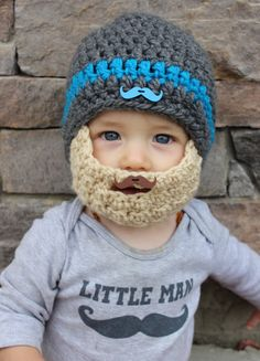 c888fe34a95 The MONSIEUR MOUSTACHE MOVEMBER Beard Hat for baby