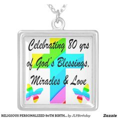 RELIGIOUS PERSONALIZED 80TH BIRTHDAY DESIGN Enjoy our uplifting and inspiring selection of 80th birthday jewelry. 15% Off Sitewide Use Code: BESTBIZCARDZ http://www.zazzle.com/jlpbirthday/gifts?cg=196105095260308256&rf=238246180177746410  #80thbirthday #80yearsold #Happy80thbirthday #80thbirthdaygift #80thbirthdayidea #80yroldChristian  #happy80th #Blessed80th #80thjewelry