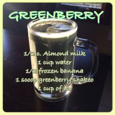 Greenberry, Shakeology, healthy meal, healthiest meal of the day, green smoothie, clean eating, banana smoothie, breakfast, meal replacement...