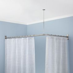 Corner Solid Brass Shower Curtain Rod