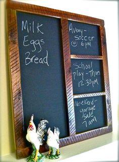 Large Barn Wood Chalkboard