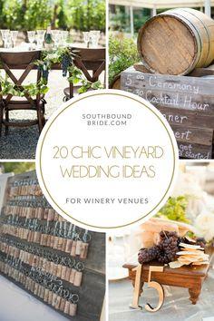 Vineyard Wedding Ideas | SouthBound Bride