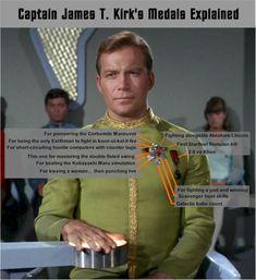 Post with 206 votes and 4113 views. Tagged with Movies and TV; Not many know what Capt. Kirk's medals are for. Star Trek Meme, Star Trek Cast, Watch Star Trek, Star Trek Series, Star Wars, Akira, Scotty Star Trek, Star Trek Uniforms, Uss Enterprise Ncc 1701