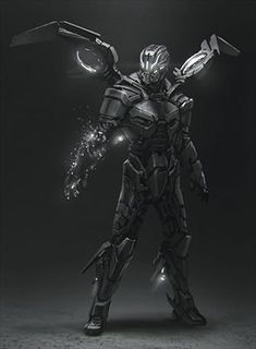 """25 Futuristic Technologies You May Live To See Sorry for bad quality. This is from the game """"Matterfall"""" which is coming in Arte Ninja, Arte Robot, Robot Concept Art, Armor Concept, Weapon Concept Art, Fantasy Character Design, Character Concept, Character Art, Sci Fi Armor"""