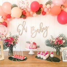 Oh Baby Wood Baby Shower Sign baby shower backdrop keepsake Flamingo Baby Shower, Flamingo Party, Baby Shower Backdrop, Baby Shower Signs, Hawaiian Party Decorations, Baby Shower Decorations, Diy Garland, Balloon Garland, Luau Baby Showers
