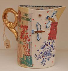 Katie Almond Ceramics - Click the image to continue reading. Ceramic Clay, Ceramic Pottery, Pottery Art, Keramik Design, Cool Mugs, Pottery Painting, Clay Crafts, Clay Art, Tea Pots
