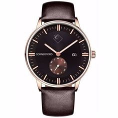 Chronograph Copper Gold   Cornerford London   Wolf & Badger / Men / Accessories / Watches
