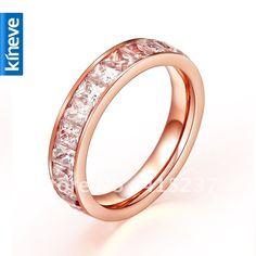 rose gold engagement rings | Rose Gold Rings For Women - Titanium Wedding Ring Set Promotion-Shop ...