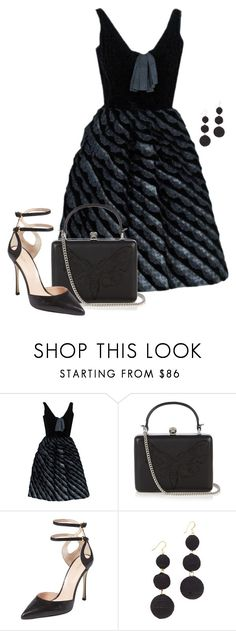 """""""Cocktail Party."""" by cris-1121 ❤ liked on Polyvore featuring Alexander McQueen, Sergio Rossi and Kenneth Jay Lane"""