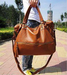New Korean Hobo PU Leather Handbag Cross Body Shoulder Bag Large Capacity  Leather Hobo Handbags, d22dff1e08