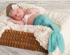 Items similar to Crochet Mermaid, Crochet Mermaid Outfit, Crochet Newborn Photo Prop on Etsy Mermaid Photo Shoot, Mermaid Photos, Mermaid Pose, Mermaid Bikini, Mermaid Mermaid, Minion Baby, Halloween Bebes, Baby Halloween Costumes, Newborn Halloween