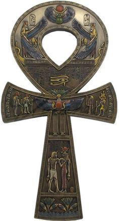 This looks very close to what most people recognize as the cross. This was an Egyptian hieroglyph, meaning life. Egyptian Mythology, Egyptian Symbols, Egyptian Goddess, African Mythology, Ancient Egyptian Jewelry, Isis Goddess, Mayan Symbols, Viking Symbols, Viking Runes