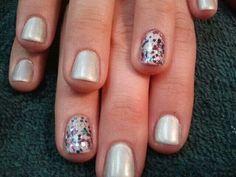 Silvery fun nail art