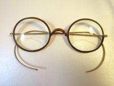 Antique 1920 Bifocal Eyeglasses Bakelite by BonniesVintageAttic