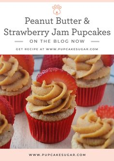Sugar wins her first bake off competition and shares her winning dog treat recipe for these Peanut Butter & Strawberry Jam Pupcakes Dog Cake Recipes, Dog Biscuit Recipes, Dog Treat Recipes, Dog Food Recipes, Puppy Treats, Diy Dog Treats, Homemade Dog Treats, Pupcake Recipe, Dog Cupcakes
