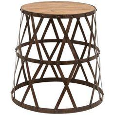 Criss Cross Metal and Wood Stool   LampsPlus.com  #thingsmatter