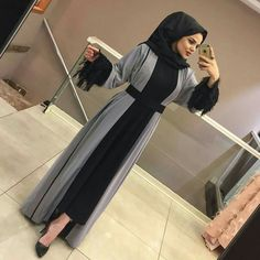 Abaya Style 805299977095412789 - Source by beutymajd Modern Hijab Fashion, Hijab Fashion Inspiration, Islamic Fashion, Abaya Fashion, Muslim Fashion, Fashion Outfits, Dress Fashion, Abaya Style, Hijab Style Dress