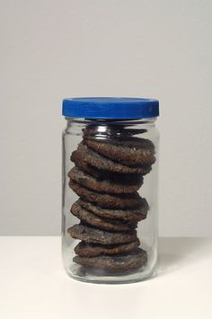 "John Baldessari - Cookies baked with ashes from ""Cremation Project,"" 1970. Courtesy of Artist and Galleries."
