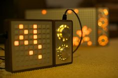 The new Monome arc2 hardware with Monome 64. Beautifully engineered MIDI controllers.