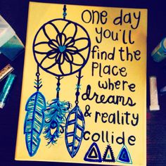 Dream catcher canvas painting. I want one!!!
