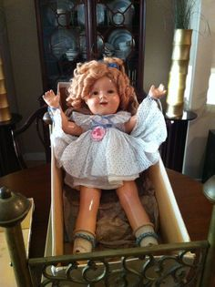 "Antique 1930's 20"" Shirley Temple Composition Doll with Original Box"
