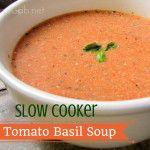 Slow Cooker Tomato Basil Soup | MamaGab