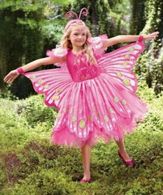 pink butterfly girls costume