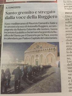 """8 febbraio 2020 - Basilica di Sant'Antonio, Padova  """"Spirito Mediterraneo"""" - Concerto per la pace - Antonella Ruggiero, Sabir, Roberto Colombo e Maurizio Camardi"""