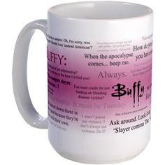 Buffy quote mugs