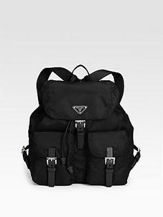 Backpack. A 1980s Prada Nylon Backpack