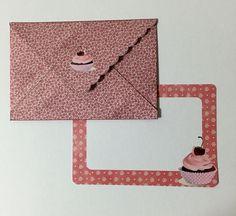 Cartão e envelope cupcake happy birthday