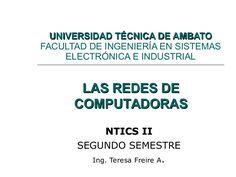 introduccion-a-las-redes-de-computadoras by Teresa Freire via Slideshare