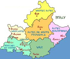 #Departments #Provence #paca #région #pacaregion #tourismepaca #map #carte #travel #informations