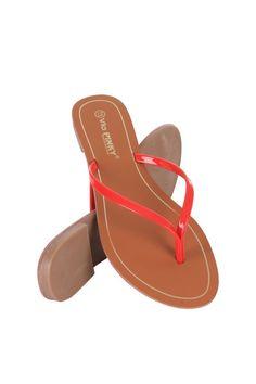Brianna-61-42 Women Flat Thong Sandal JS Awake Red