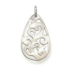 Thomas Sabo Drop Shaped Hollow Pattern Pearl Pendant  From Crystaljewelryuk.com