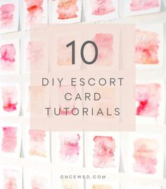 10 DIY escort card tutorials for the modern bride who wants to save money on wedding stationery. #diyweddingstationery #diyweddingtutorials #weddingstationery