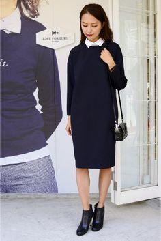 ◆コットンカラー コクーンドレス