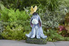 Eeyore Welcome statue Eeyore Gifts, Eeyore Pictures, Eeyore Quotes, Disney Garden, Garden Ornaments, Lawn Ornaments, Pooh Bear, Garden Statues, Baby Grows