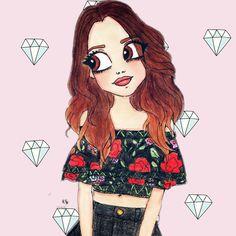 Nada de perfectas image by jimenamarianellam. Find more awesome freetoedit images on PicsArt. Kawaii Girl Drawings, Cartoon Girl Drawing, Disney Drawings, Girl Cartoon, Cartoon Drawings, Cute Doodles, Realistic Drawings, Emily Mena, Cool Art