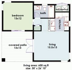 The studio plan is a single room modern guest house plan   a    studio is a sq ft modern guest house plan   one bedroom and one