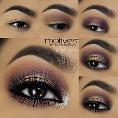 step by step pictorial for this weekend using @motivescosmetics by @lorenridinger hope you like it tag a friend -brows i used motives essential brow kit 1.apply motives eye base all over lid 2.take cappuccino and use it as transition color on crease 3. use Lalas court palette and take the plum color and apply on the inner and outer corners of lid 4.apply the same plum color on lower lashline and apply golden shadow from lalas court on center of lid 5.take bling and apply on tearduct and…