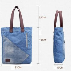 Casual Blue Denim Tote Shopping Bag Handbag is designer, see other popular bags on NewChic. Denim Tote Bags, Denim Handbags, Tote Handbags, Mochila Jeans, Blue Jean Purses, Tods Bag, Handmade Bags, Handmade Leather, Vintage Leather