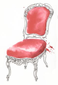 French chairs by Georgina Luck, via Behance