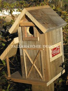 Tractor Shed Barn Style Wood Birdhouse Rustic Barn Birdhouse Primitive Birdhouse Barnwood Birdhouse by doris.flanagin