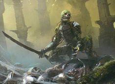 ArtStation - MTG: Rot Farm Skeleton, by Maciej Kuciara. More Fantasy here. Dark Fantasy Art, Fantasy Artwork, Fantasy Rpg, Medieval Fantasy, High Fantasy, Final Fantasy, Skeleton Warrior, Skeleton Art, Skeleton King