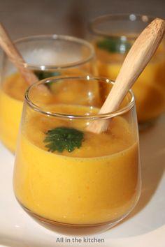 velouté de carotte fenouil et lait de coco