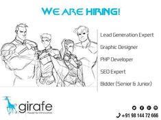 The Girafe infotisements is one of the best and Top Web Development Company in Chandigarh and web design company in chandigarh and india. Hiring Now, We Are Hiring, Jobs Hiring, Web Design Services, Web Design Company, Logo Design, Website Development Company, Software Development, Seo Specialist