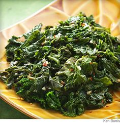 Very Good Basic Sauteed Kale Recipe- I prefer Balsalmic Vinegar! Also, remember to massage the kale leaves before cooking to tenderize:)