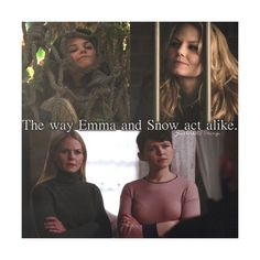 Just OUaT Things - The way Emma and Snow act alike. Abc Shows, Best Tv Shows, Best Shows Ever, Favorite Tv Shows, Once Upon A Time Funny, Once Up A Time, Once Upon A Time Peter Pan, Emma Swan, Killian Jones
