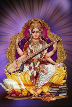 Saraswati Mata, Saraswati Goddess, Shiva Shakti, Lord Murugan Wallpapers, Gods And Goddesses, Deities, Princess Zelda, Movies, Jay
